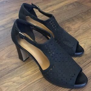 Clarks Black Dress Sandal